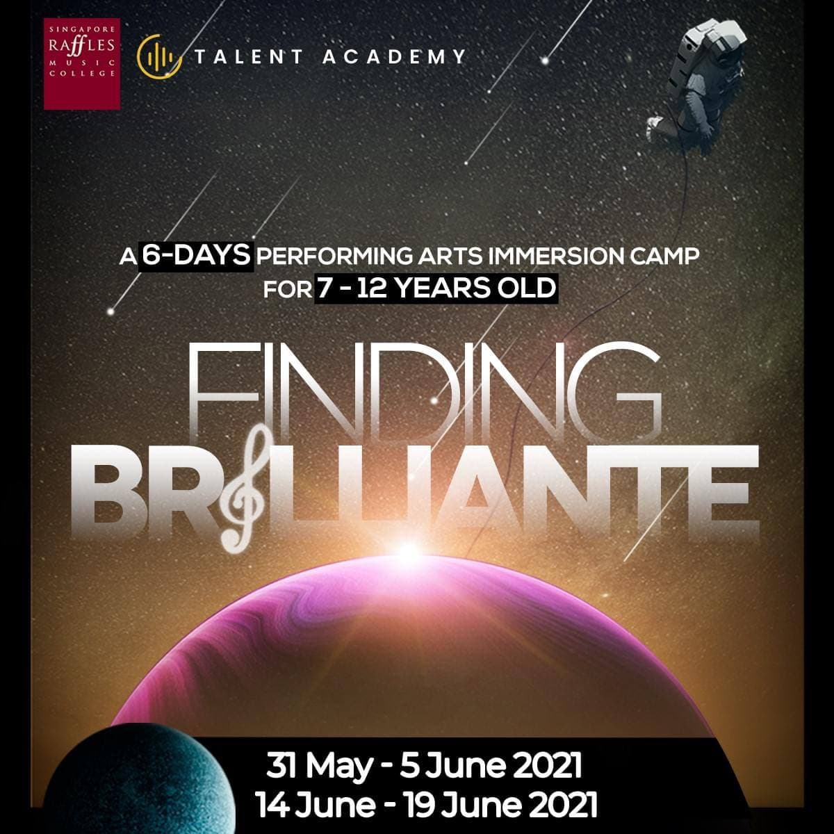 Sign up for Finding Brillante: 6-day Performing Arts Immersion Camp for your Child
